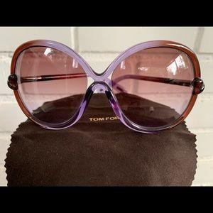 Tom Ford Whitney Oversized Soft Round Sunglasses